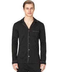 Calvin Klein Mens Black Pajama Top - Lyst