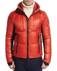 Moncler Baise Hooded Nylon Down Puffer Jacket red - Lyst
