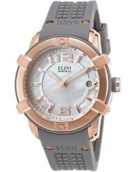 Elini Barokas - Spirit Grey Silicone Mother Of Pearl Dial Rose-tone Ss - Lyst