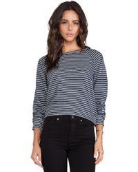 Textile Elizabeth and James - Striped Perfect Sweatshirt - Lyst