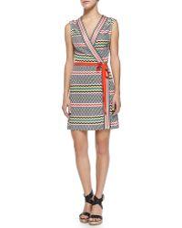 Missoni Mare Copricost Printed/Striped Wrap Dress - Lyst
