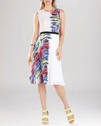 BCBGMAXAZRIA Dress - Maureen Pleated - Lyst