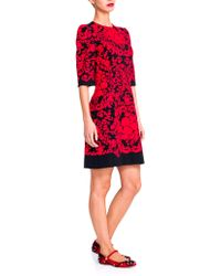 Dolce & Gabbana Lace-Applique Dress red - Lyst