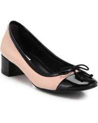 Cole Haan Sarina Leather & Patent Leather Low-Heeled Pumps - Lyst