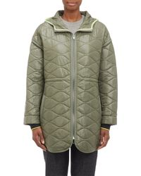 T By Alexander Wang Quilted Hooded Jacket - Lyst