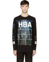 Hood By Air Black Heart Monitor Print Long Sleeve Shirt - Lyst