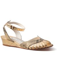 Terry De Havilland - Mini Margaux Python Gold - Lyst