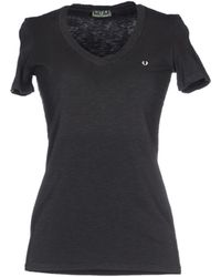 Fred Perry T-Shirt gray - Lyst