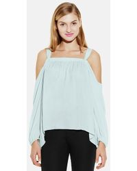 Vince Camuto Rumpled Cold Shoulder Blouse - Lyst