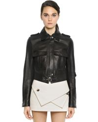 J.W. Anderson Nappa Leather Moto Jacket - Lyst