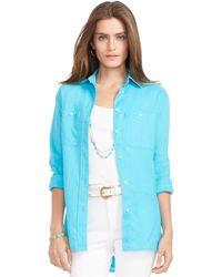 Ralph Lauren Relaxed-Fit Linen Shirt - Lyst