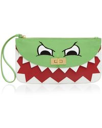 Moschino Cheap & Chic Clutch - Patent Dino Face - Lyst