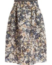 Erdem Maureen Printed Skirt - Lyst
