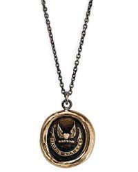 Pyrrha - 'never Look Back' Talisman Pendant Necklace - Bronze - Lyst