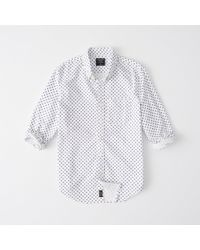 Abercrombie & Fitch - Printed Oxford Shirt - Lyst