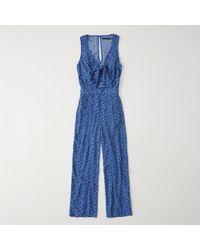 Abercrombie & Fitch - Knot Front Cutout Jumpsuit - Lyst