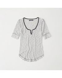 Abercrombie & Fitch - Lightweight Henley - Lyst