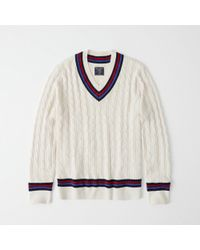 Abercrombie & Fitch - Cricket V-neck Sweater - Lyst