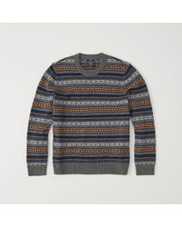 Abercrombie & Fitch - Fair Isle Sweater - Lyst