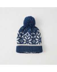 20265be98 Lyst - Abercrombie & Fitch Pom Pom Hat in Natural