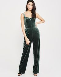 507adc73d3d Lyst - Abercrombie   Fitch Utility Jumpsuit in Green