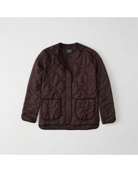 Abercrombie & Fitch - Quilted Lightweight Jacket - Lyst