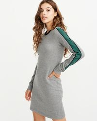 ec36c8388e2 Lyst - Abercrombie   Fitch Graphic Sweatshirt Hoodie Dress in Gray
