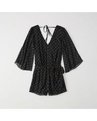 Abercrombie & Fitch - Bell-sleeve Romper - Lyst