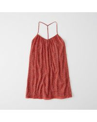 Abercrombie & Fitch - Lace Pieced Swing Dress - Lyst