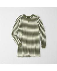 Abercrombie & Fitch - Striped Sweatshirt Dress - Lyst