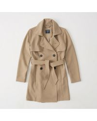Abercrombie & Fitch - Drapey Trench Coat - Lyst
