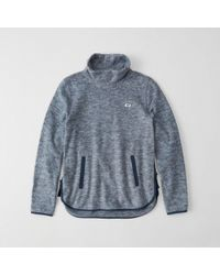 Abercrombie & Fitch - Cowl Neck Sherpa Pullover - Lyst