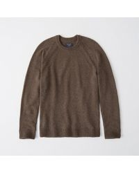 Abercrombie & Fitch - Classic Merino Wool Blend Sweater - Lyst