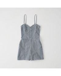 Abercrombie & Fitch - Button-down Romper - Lyst
