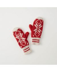 Abercrombie & Fitch - Cable Knit Mittens - Lyst