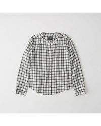 Abercrombie & Fitch - Banded Collar Flannel Shirt - Lyst