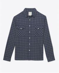Billy Reid Graham Shirt blue - Lyst