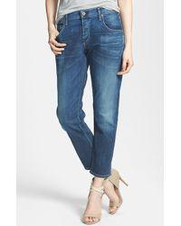 Citizens of Humanity 'Premium Vintage - Emerson' Crop Boyfriend Jeans - Lyst