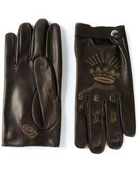 Diesel Tattoo-Style Driving Gloves black - Lyst