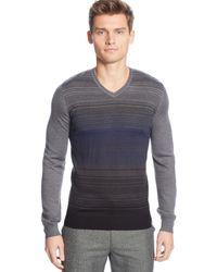 Calvin Klein Merino Wool-blend Graduated-stripe Sweater - Lyst