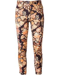 Vivienne Westwood Anglomania Floral Pattern Skinny Trousers - Lyst
