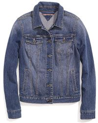 Tommy Hilfiger Classic Light Wash Denim Jacket - Lyst