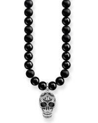 Thomas Sabo - Kette mit Anhänger ́ Power Necklace Maori Totenkopf Pavé, KE1707-705-11-L60 ́ - Lyst