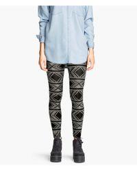 H&M Patterned Jersey Leggings - Lyst