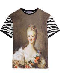 Emanuel Ungaro Printed Cotton T-Shirt - Lyst