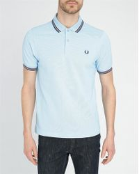 Fred Perry Sky-Blue/Navy/Burgundy Classic Slim-Fit Polo Shirt blue - Lyst