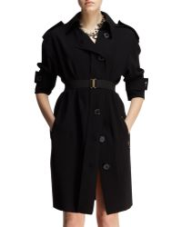Lanvin Belted Techno Trench Dress - Lyst