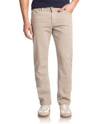 AG Adriano Goldschmied The Graduate Jeans beige - Lyst