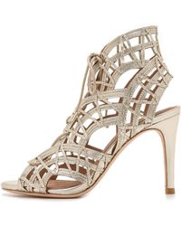Joie Leah Sandals - White Gold - Lyst
