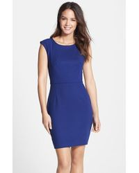 French Connection 'Whisper Light' Woven Sheath Dress - Lyst